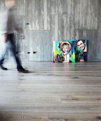 Heltregulv Tilje Lauer Rustikk lamellplank. Foto av gulv.