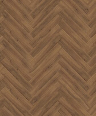 Vinylgulv Kährs Luxury Tiles Redwood Fiskeben. Nærbilde.