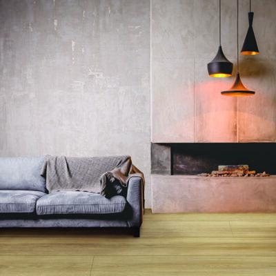Laminat BerryAlloc Grand Majestic Katla Natural Light. Foto av gulv i stue.