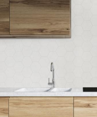 Kjøkkenplate BerryAlloc Kitchen Wall Sandstein Hexagon