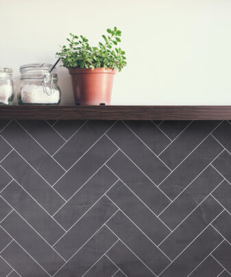 Kjøkkenplate BerryAlloc Kitchen Wall Sort Kalk Fiskeben